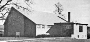 Current church building before the 1991 addition.